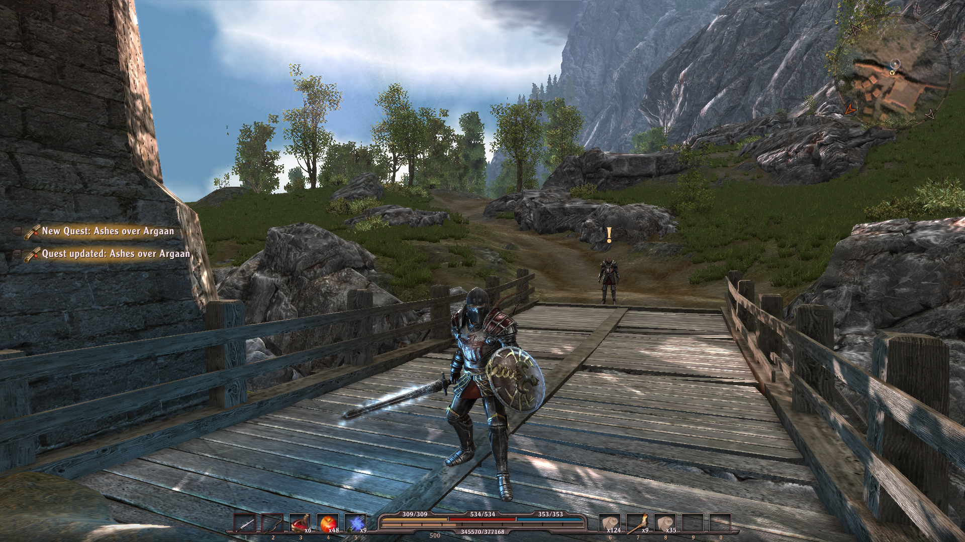 ArcaniA: Fall of Setarrif Windows Starting the game with an imported character.
