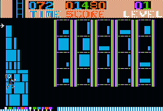 Highrise Apple II Level completed - Barnaby climbs the tower