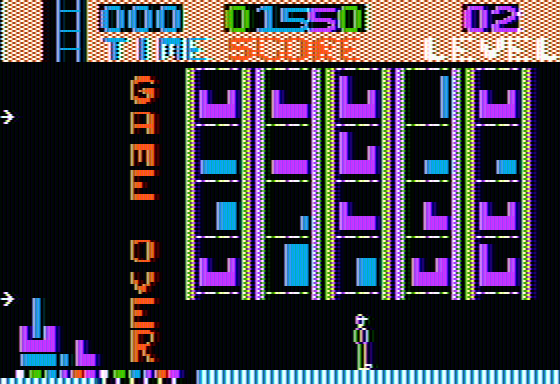 Highrise Apple II Game over when time runs out