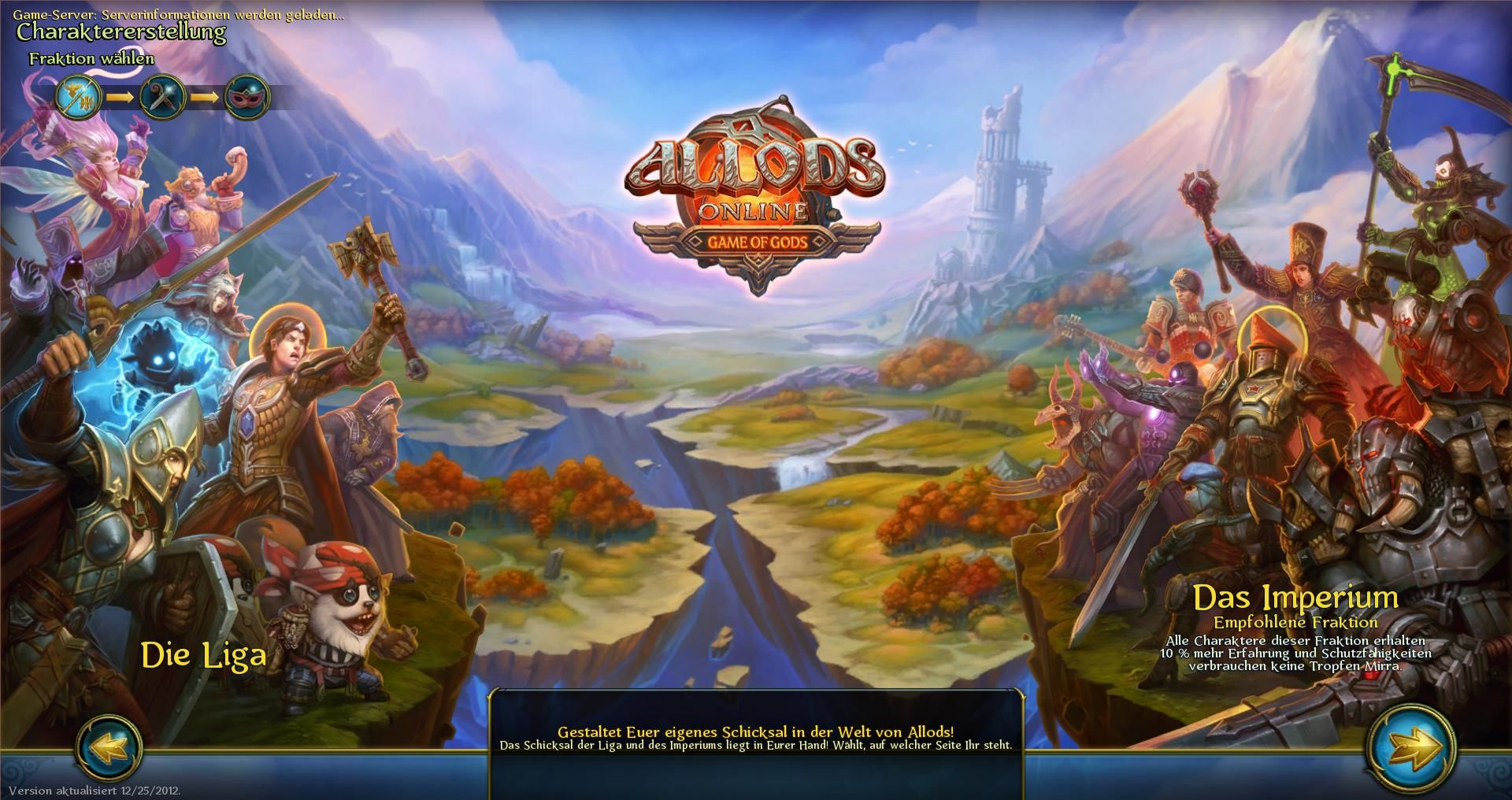 Allods Online Windows There are two factions to choose from.
