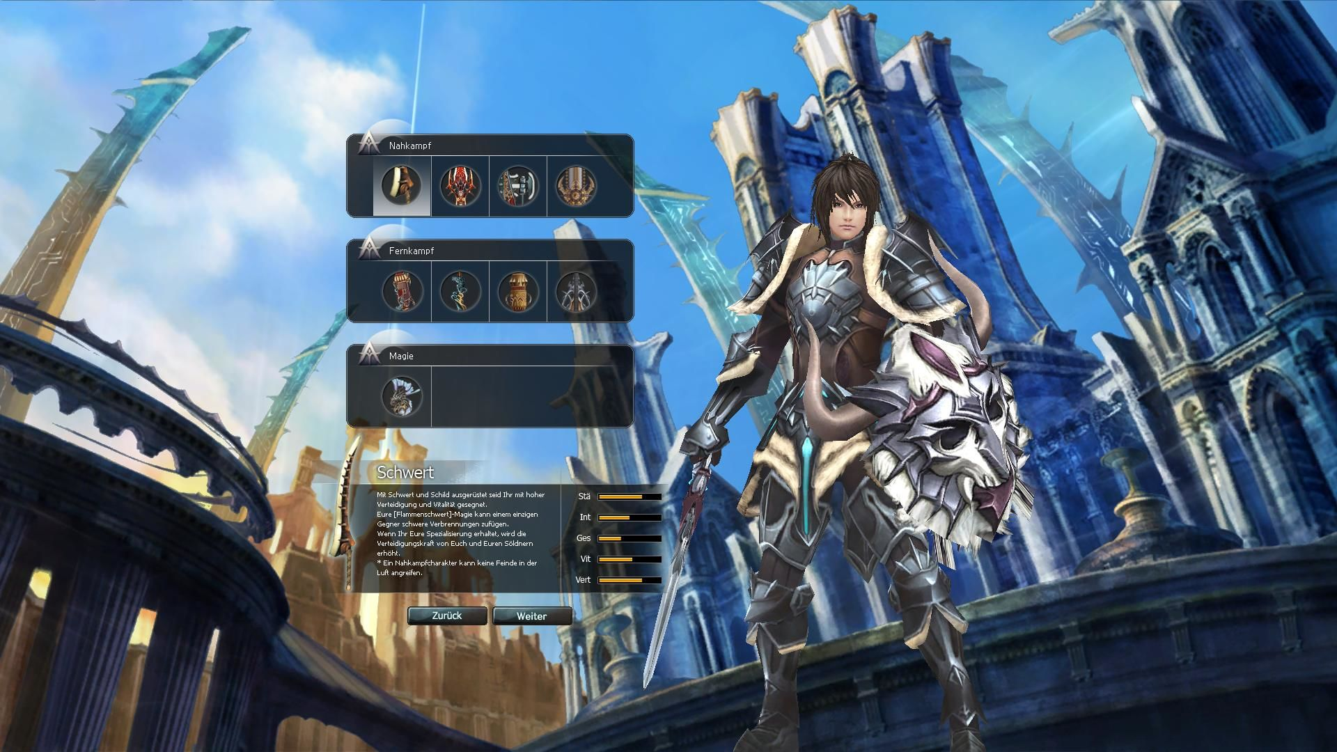 Atlantica Online Windows Character creation