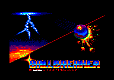 Ball Breaker Amstrad CPC Title screen