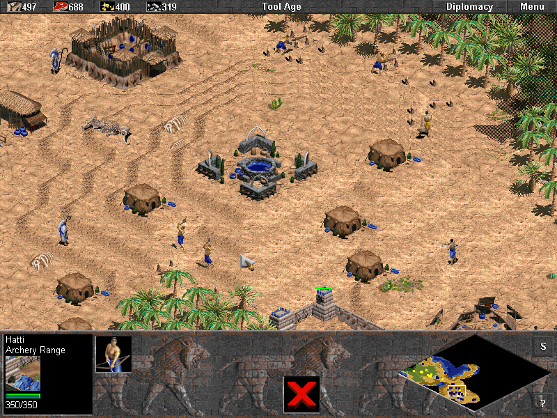 Age of Empires (Demo Version) Windows A Tool Age settlement.