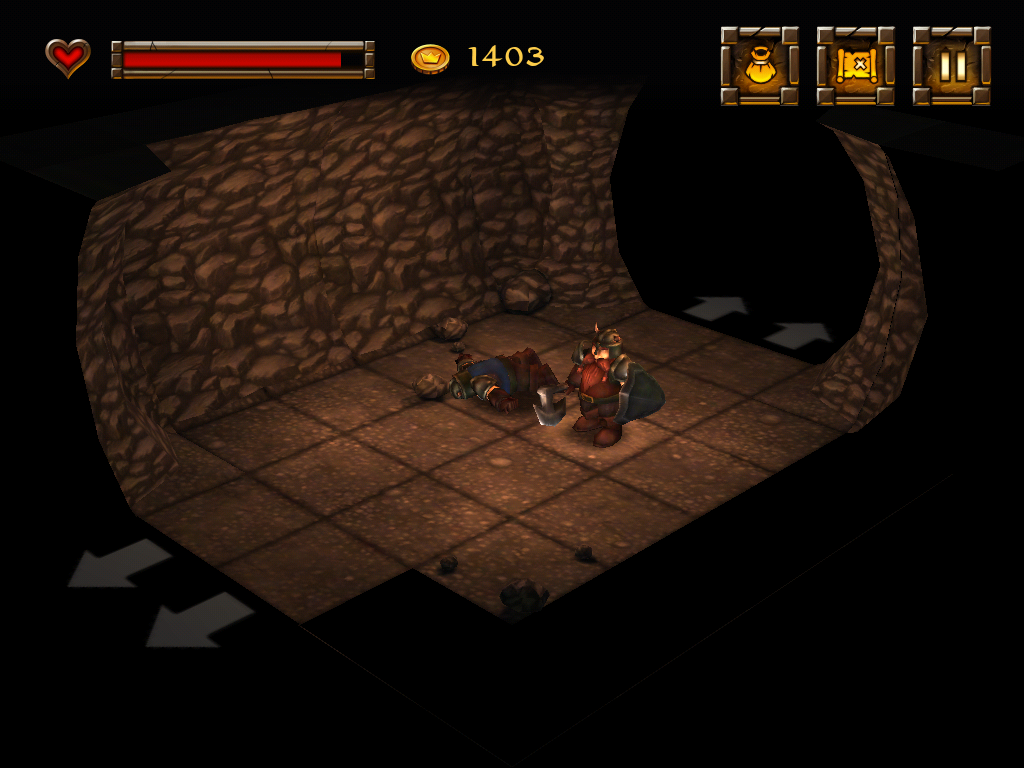 Dwarf Quest iPad In a cave