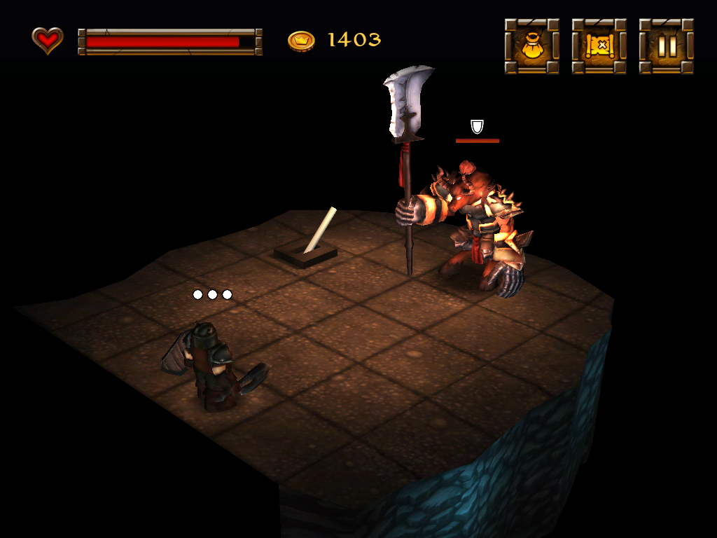 Dwarf Quest iPad Boss fight.