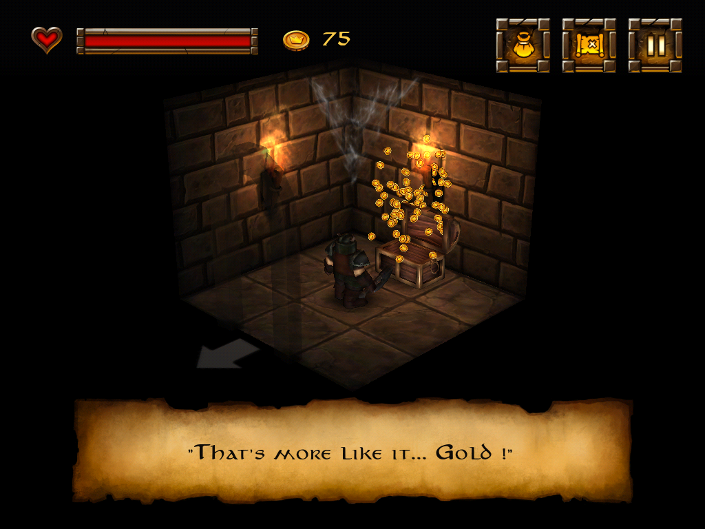 Dwarf Quest iPad Yes, gold!
