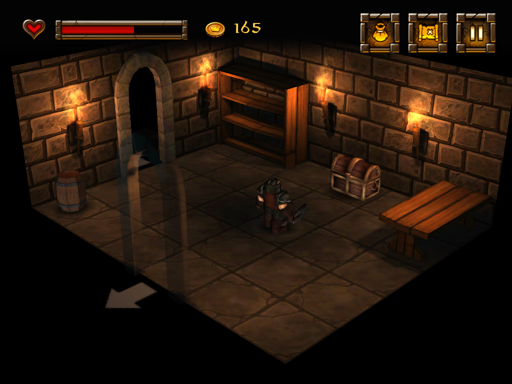 Dwarf Quest iPad Don't forget to search the furniture for hidden items.