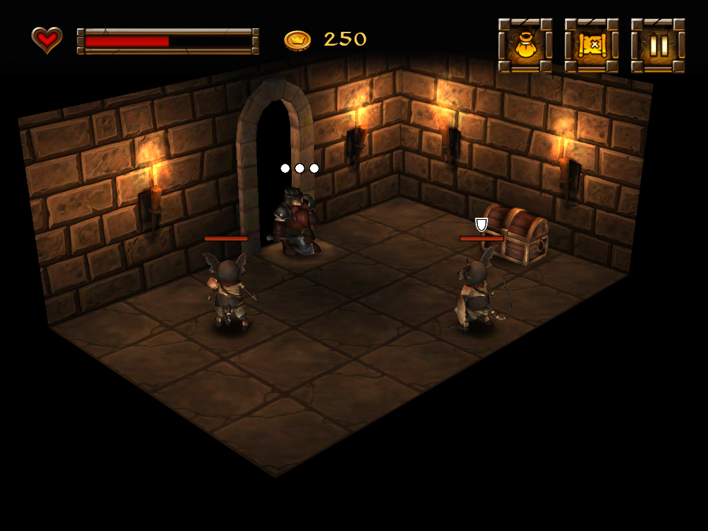 Dwarf Quest iPad Morrin must plan his moves carefully when facing more than one enemy.