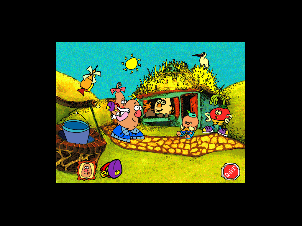 Mr. Potato Head Saves Veggie Valley Windows 3.x The neighbours look pretty carefree to me.