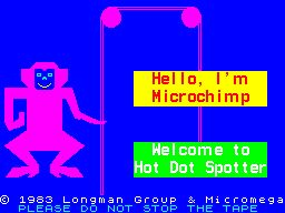 Hot Dot Spotter ZX Spectrum One of the screens that displays as the game loads. Microchimp never makes another appearance