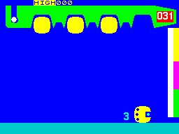 Hot Dot Spotter ZX Spectrum When a ball hits the bottom the game slowly counts the number of dots on it before removing it