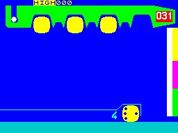 Hot Dot Spotter ZX Spectrum Hot Dots are removed by being slowly dragged to the left of the screen