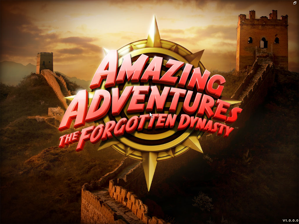 Amazing Adventures: The Forgotten Dynasty Windows Title screen