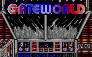 Gateworld: The Home Planet DOS Title screen (The Home Planet)