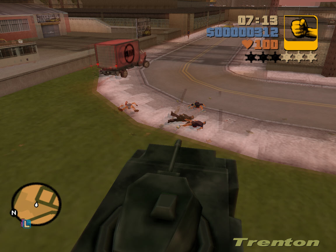 Grand Theft Auto III Windows MULTIKILL. Tank is good thing. :D