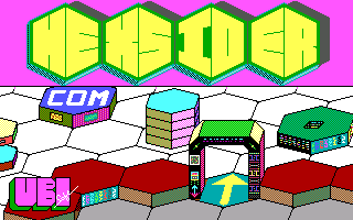 Hexsider DOS Title screen (EGA)