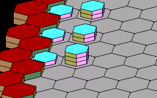 Hexsider DOS Your starting location in 3D (EGA)