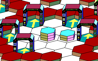 Hexsider DOS Looks like a transporter room (EGA)