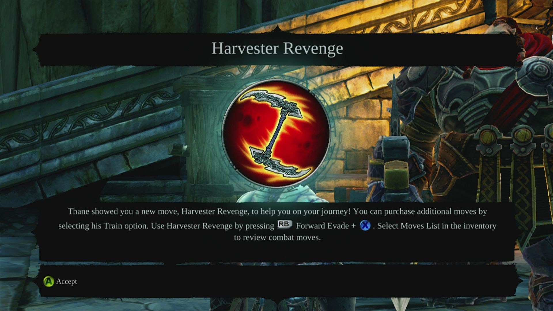 Darksiders II Xbox 360 Besides items, you can also buy moves from some trainers