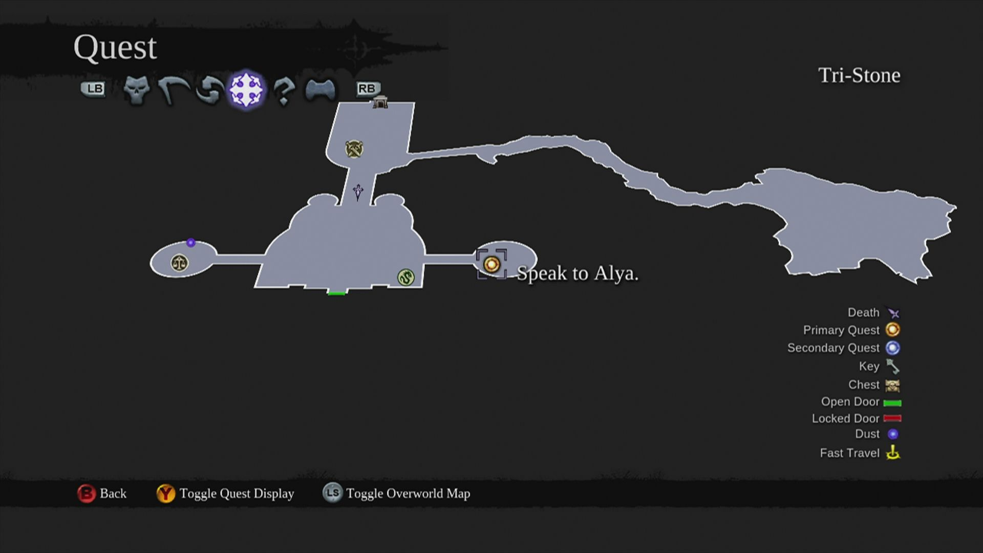 Darksiders II Xbox 360 Map view