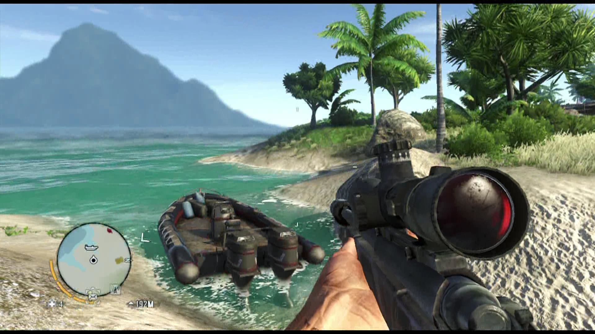 Far Cry 3 Xbox 360 Besides land vehicles, you can also user boats and hang gliders