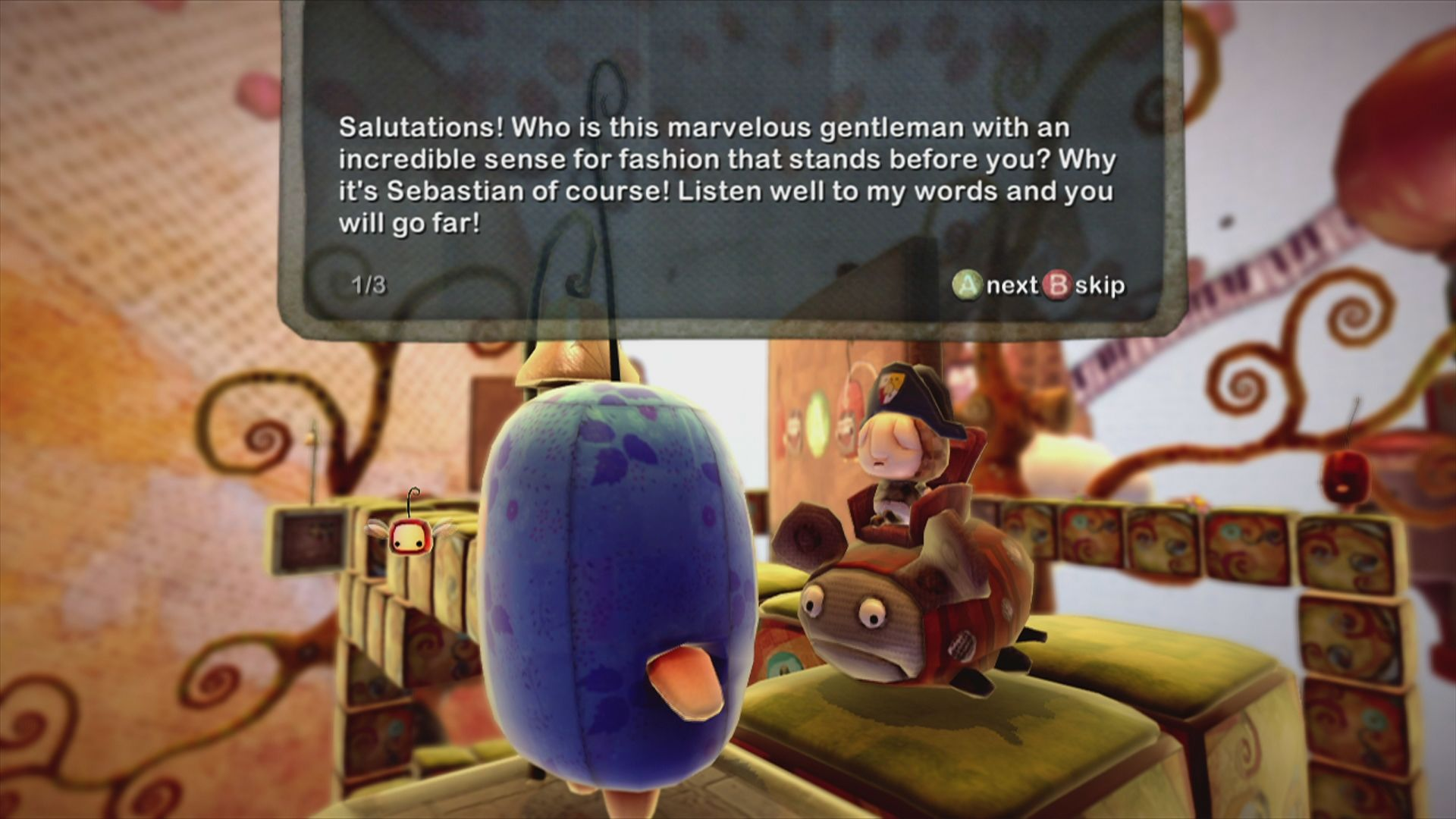 ilomilo Xbox 360 Sebastian will give you advise and explain the game mechanics