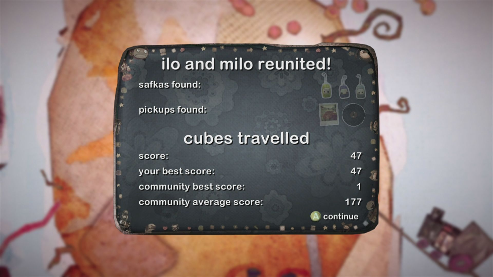 ilomilo Xbox 360 Finished a level