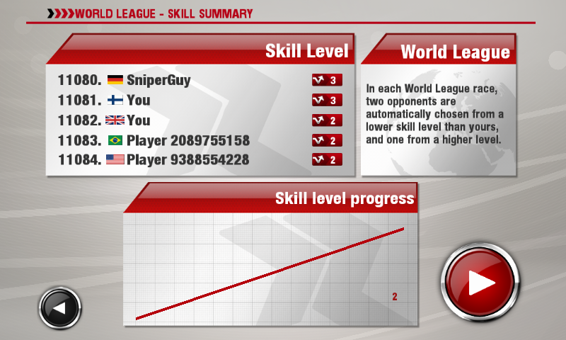 DrawRace 2 Android World league skill summary