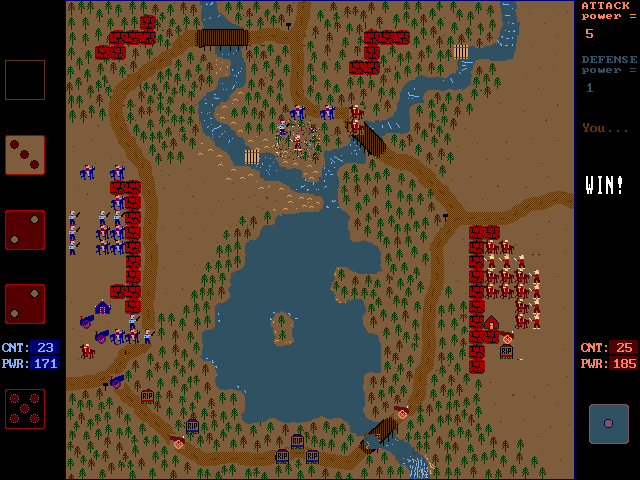 Campaign DOS Blue army is making progress in the north, but red is sending a scout to take out the blue captain.