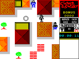 Clever & Smart ZX Spectrum The streets function as overworld map.