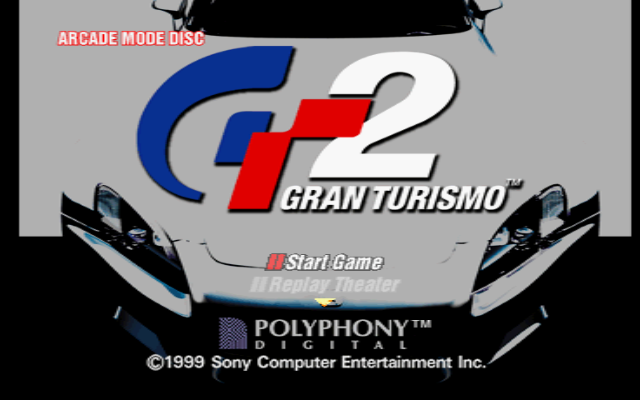Gran Turismo 2 PlayStation Title screen.
