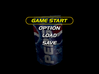 Pepsiman PlayStation Main menu.