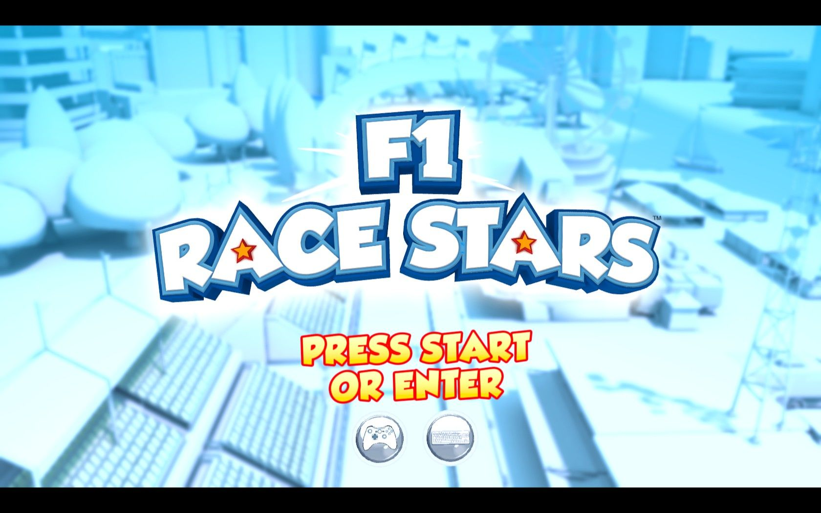F1 Race Stars Windows Start Screen