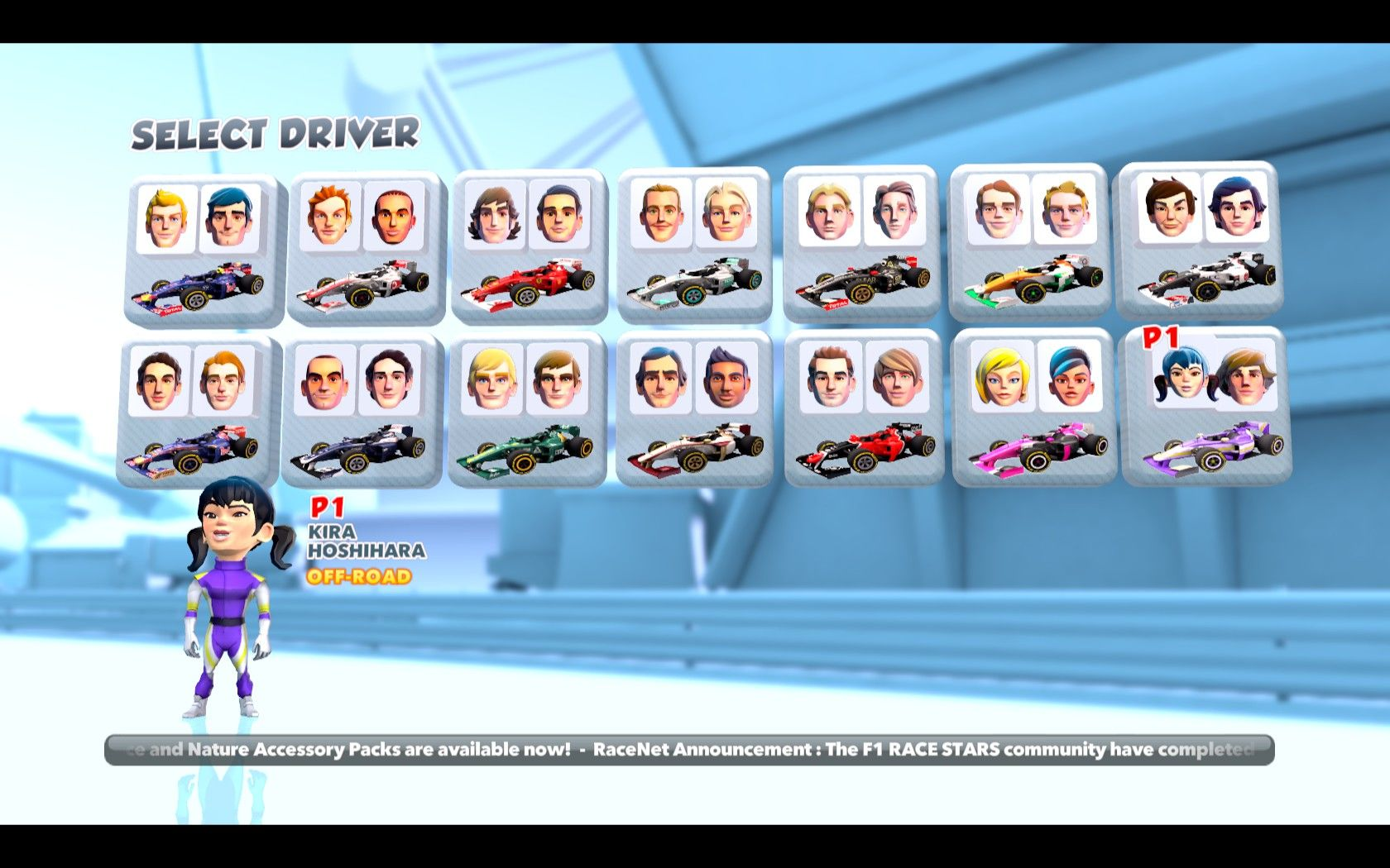 F1 Race Stars Windows Select driver