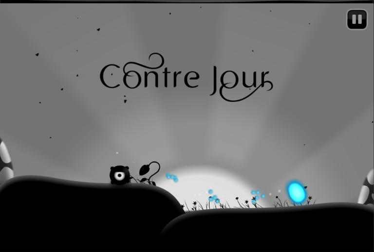 Contre Jour Browser Title screen in the first level of the first chapter