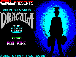 Dracula ZX Spectrum Chapter 1: Title screen