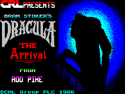 Dracula ZX Spectrum Chapter 2: Title screen