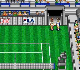 Super Final Match Tennis SNES Entering the tennis court