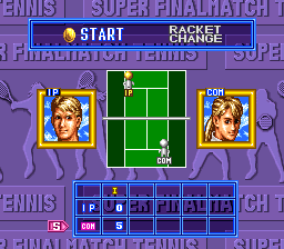 Super Final Match Tennis SNES Timeout screen