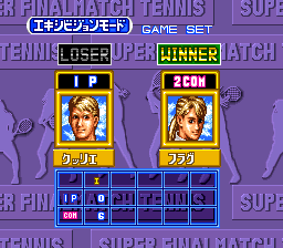Super Final Match Tennis SNES Match result
