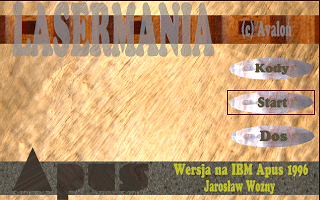 Lasermania DOS Main Menu