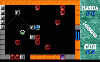 Lasermania DOS Pushing the steel element