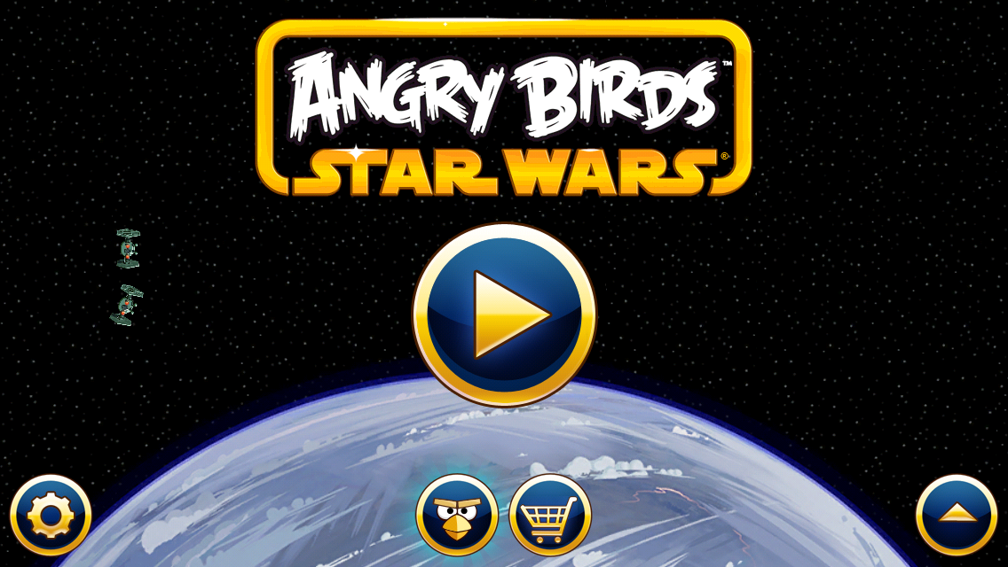Angry Birds: Star Wars iPhone Title screen