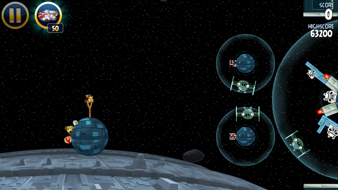 Angry Birds: Star Wars iPhone Gameplay resembles both the original Angry Birds and Angry Birds Space