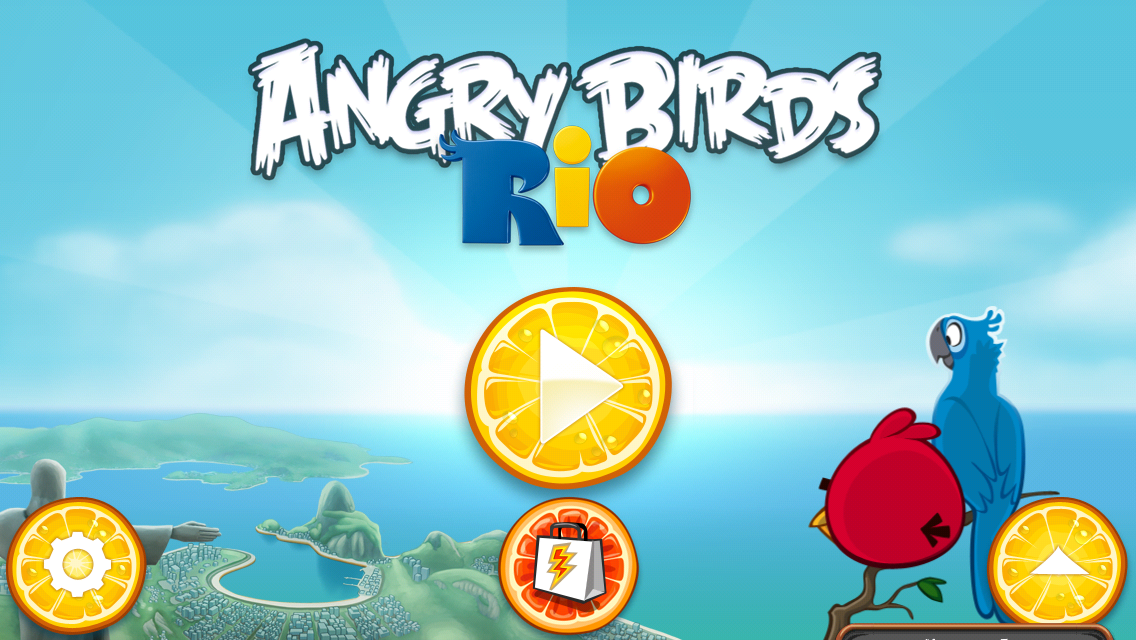 Angry Birds: Rio iPhone Title screen
