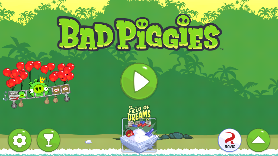 Bad Piggies iPhone Title screen
