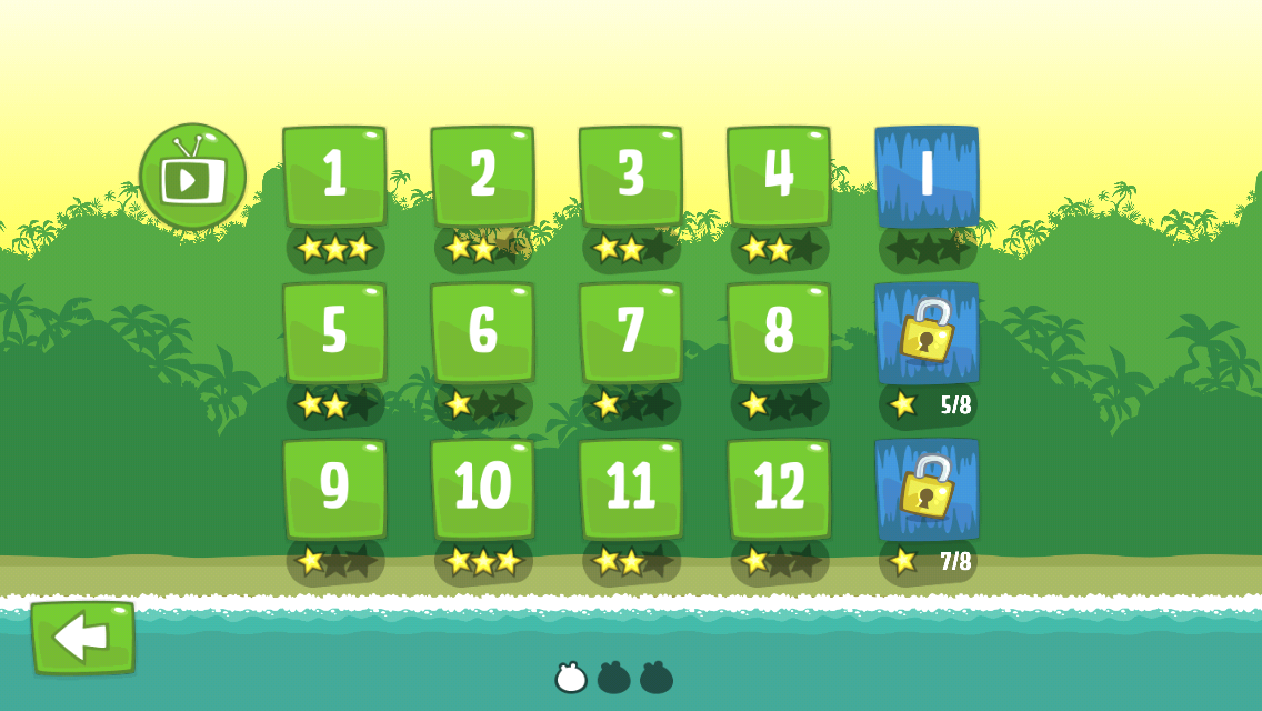 Bad Piggies iPhone Selecting a level