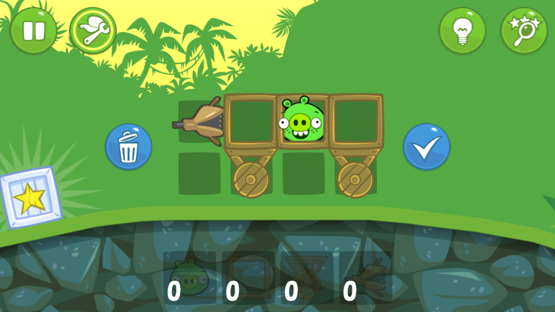 Bad Piggies iPhone Building a simple contraption
