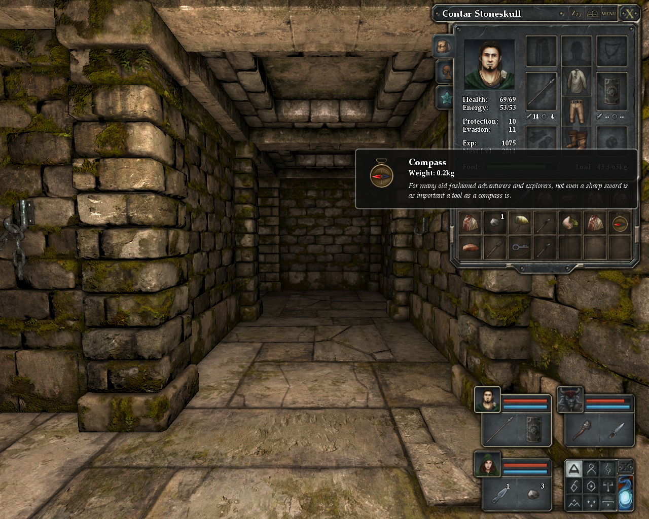 Legend of Grimrock Windows A compass - for those old-skool adventurers