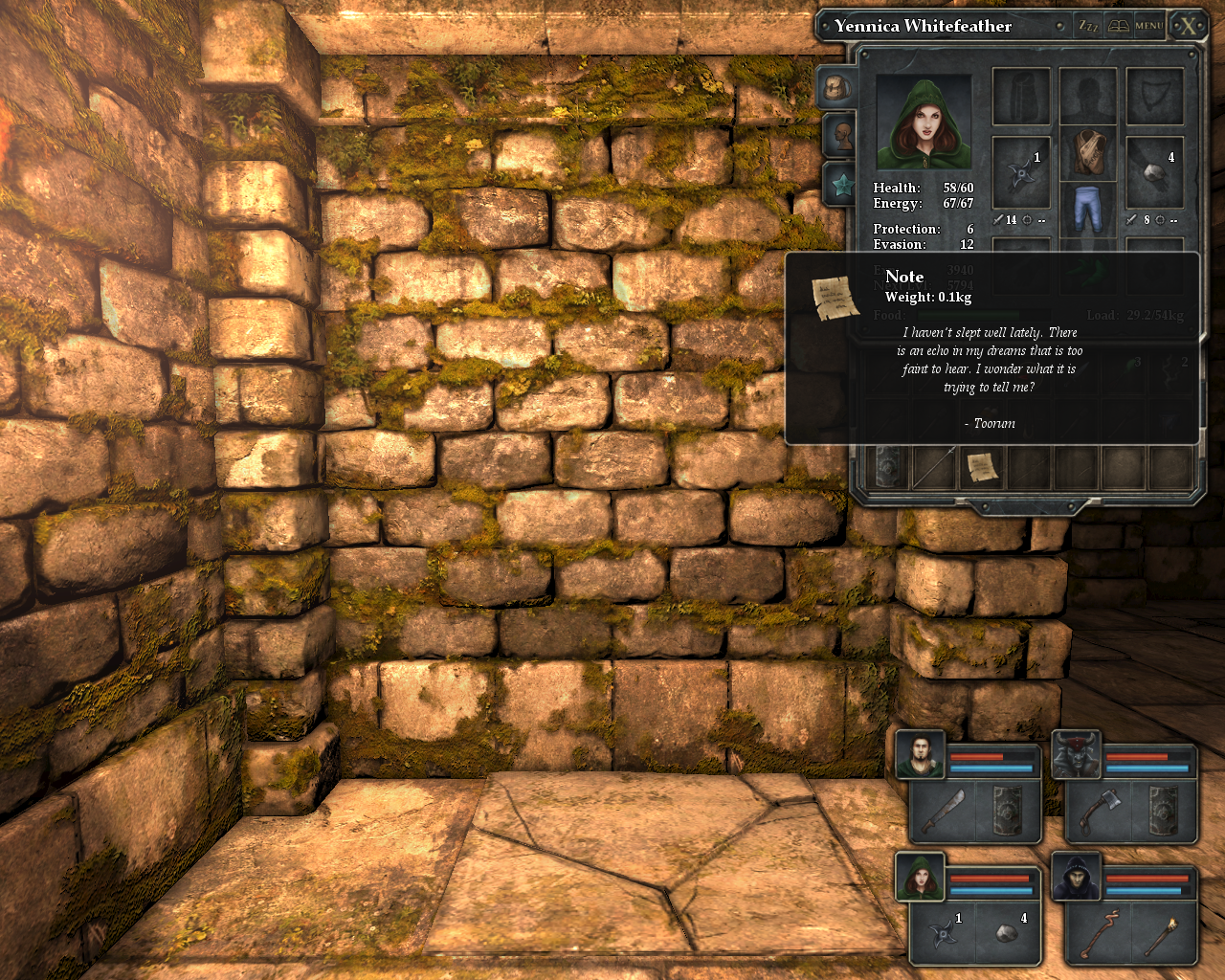 Legend of Grimrock Windows A note from Toorum who'll play a certain role in the game